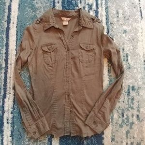 Arizona button up med army green